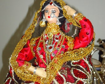 OOAK, exquisite handmade art doll... Rajasthani woman from western part of India.