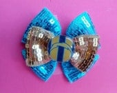 """San Diego CHARGERS 3"""" Sequin Hairbow"""