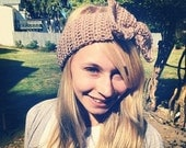 Hand Crocheted Eco-Friendly Bow Earwarmer