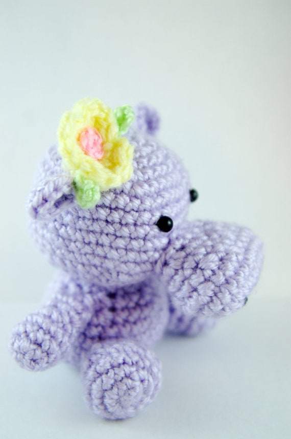 Crochet Happy Hippo Hilda (Lavender Only)