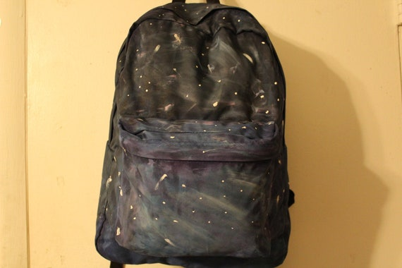 Hand Painted Tumblr Hipster Galaxy Backpack