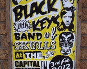 "The Black Keys 2012 concert poster.100 yr. old pine barnwood.Image laminated on 1/2"" plywood.14""x20""x1.5"""
