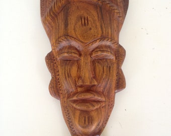Tribal Wooden Hand Carved Wall Hanging