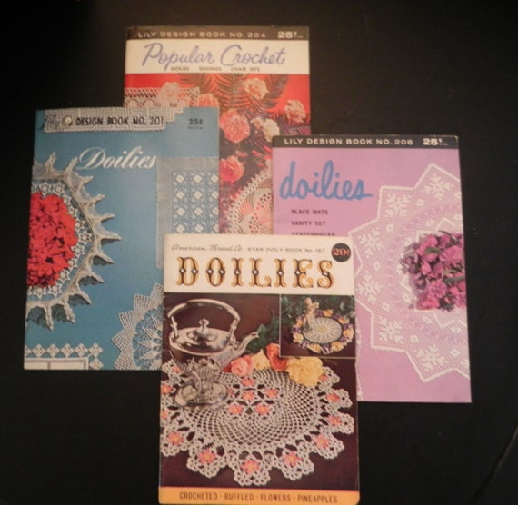 Doily Pattern Books-Lot of 4