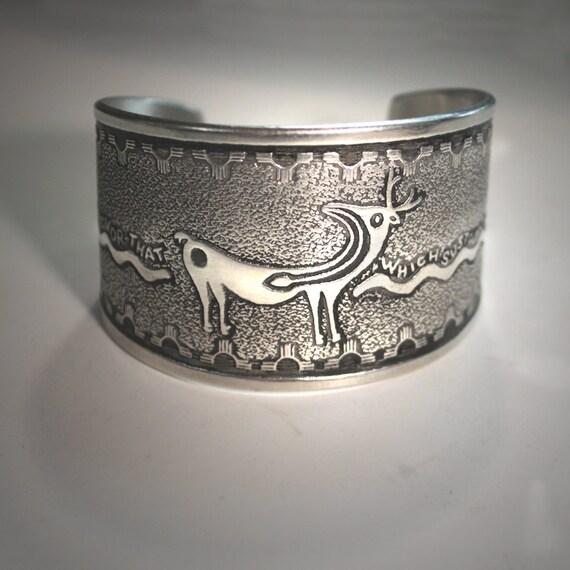 Heart Deer cuff bracelet