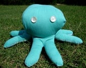 ON SALE! Lola the Teal & Floral Octopus