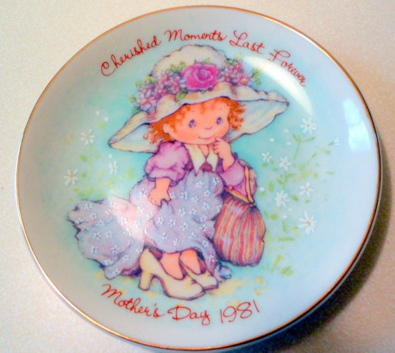 CHERISHED MOMENTS LAST Forever Vintage Mother's Day Collector Plate by Avon 1981