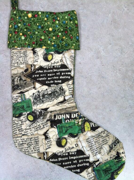 Jd Handmade Creations: Handmade John Deere Quilted Christmas Stocking