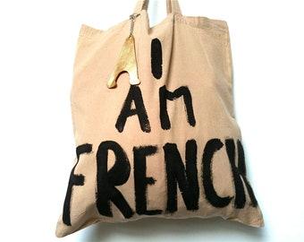 CUSTOM I AM FRENCH Tote Bag / Eve Damon