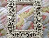 white shabby chic frame