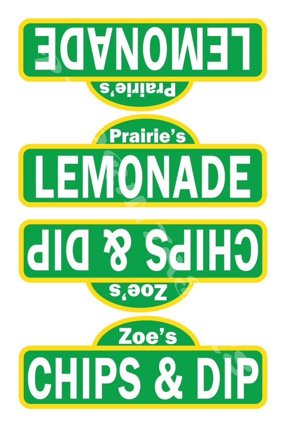 Sesame Street Inspired Food Tent Signs- Customized Digital File