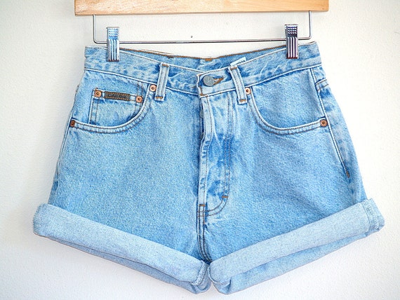 Vintage 90's High Waisted Denim Shorts - Calvin Klein - Size 3
