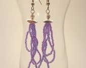 Triple Strand Seed Bead Earrings