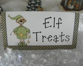 Elf treats christmas bag topper