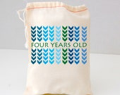Chevron Arrows, Party Favor Bags, Gift Bags, Muslin bags, Birthday favor bags, bags, blue, etsykids team,