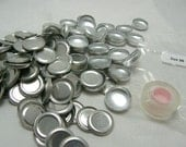 "100 Aluminum Flat Back Self Button Covers Size 30 (3/4"")"