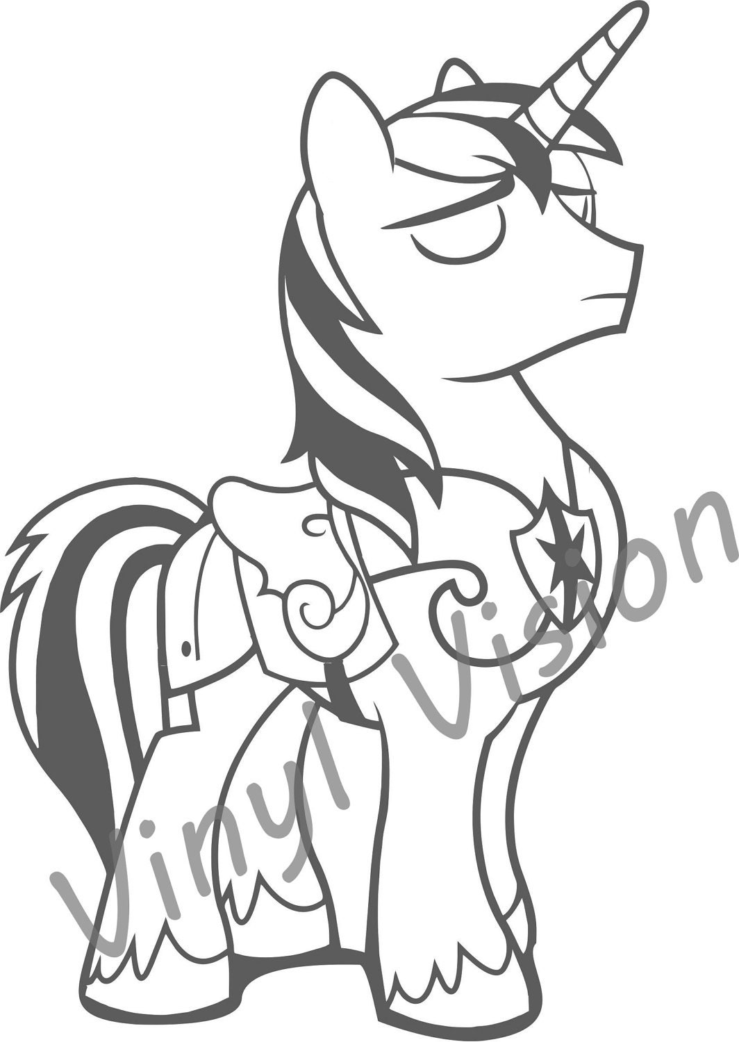 It's just a picture of Wild Shining Armor Coloring Page