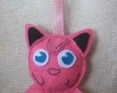Pokemon, Jigglypuff keychain or bag charm.