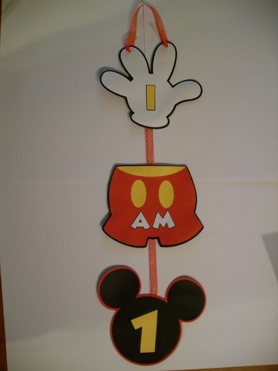 Mickey Mouse Happy Birthday Sign
