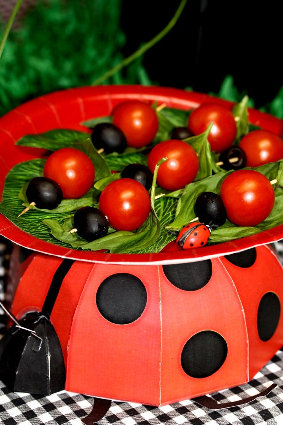 Ladybug 3d Centerpiece Print At Home By Frolicparties On Etsy