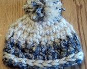 Crochet Preemie Baby Hat with Pom