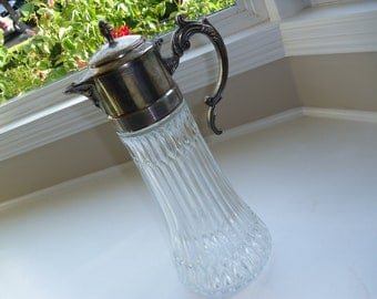 Fabulous Silverplate and Glass Pitcher With Icing Insert