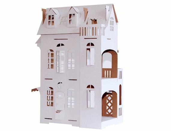 Papier cartabianca villa imagination n 9 maison en carton for Maison en carton a colorier
