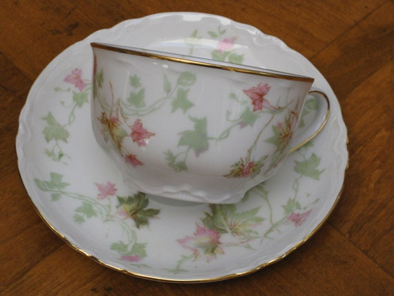 "Hutschenreuther ""Maple Leaves"" Teacup and Saucer"