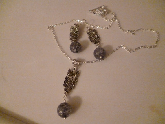 SPECIAL OFFER Owl Necklace and Earring set REDUCED