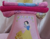 girls princess toy soap with 3 princess eco friendly wash cloths