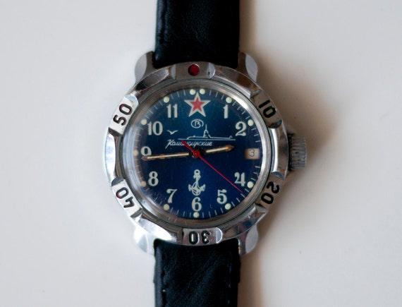watch wrist Soviet Russian Army Commander mens Soviet Vostok Komandirskie USSR  Army Vintage -submarine watch
