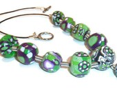 Polymer clay jewelry - Bright as you necklace