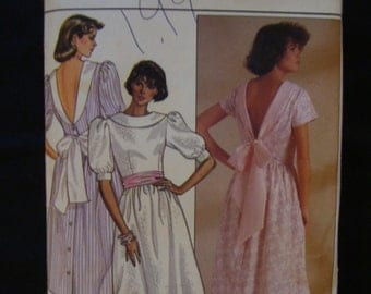 50% OFF SALE-1985 Butterick 3110 Misses Dress Pattern Size 6-8-10
