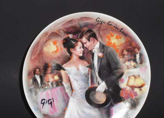 """Presenting  """"Gigi Is In Love"""" Limited Edition French Collector's plate by Henri D'Arceau L. & Fils 1986, artist Jean-Claude Guidou"""