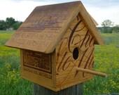 Custom Wooden Wine Crate Birdhouse