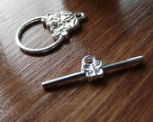 10 x Silver Plate Jewellery Toggle / T-Bar Clasp - Bracelet  /  Necklace Findings - UK manufacture