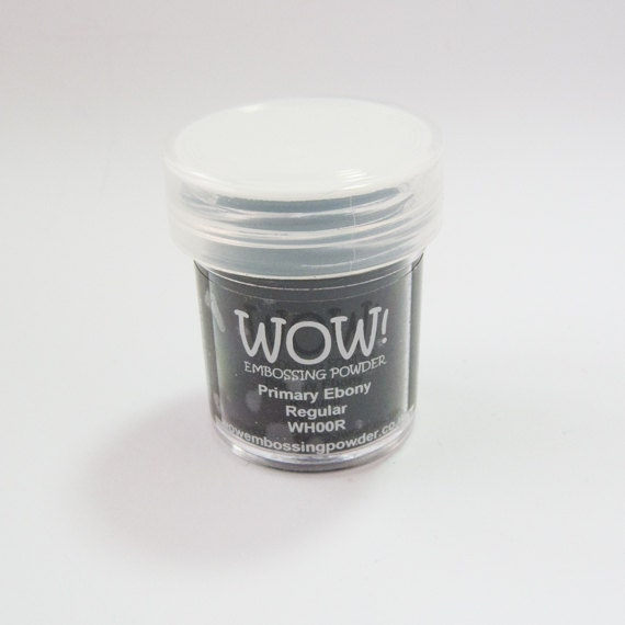 Primary Ebony Embossing Powder - WOW Embossing Powders - UK manufacture
