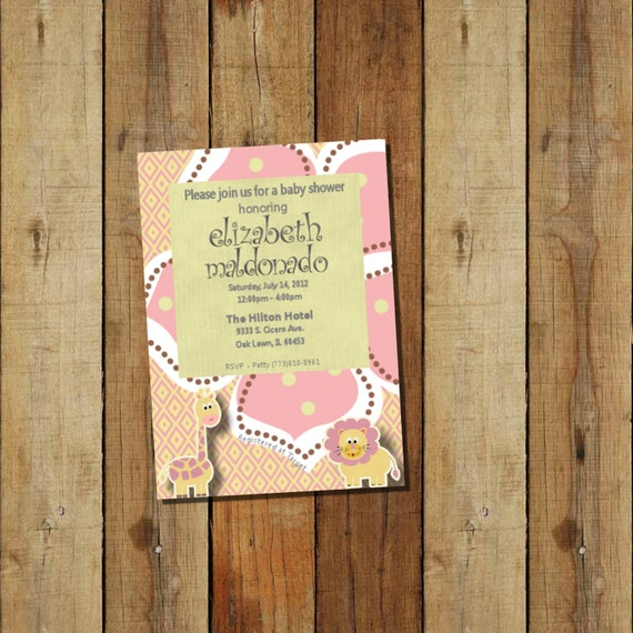 baby girl or boy shower invitations custom colors personalized baby