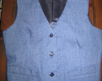 Three Button Denim Vest