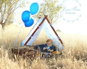 Patchwork Tent Cover Photography Props Kids Photo Prop Outdoor Photography Props Childrens Photo Prop Outdoor Play Tent Cover Patchwork Blue