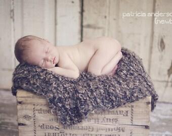 Blanket Newborn Baby Photo Prop Baby Photography Props Brown Baby Photography Prop Baby Picture Props for Baby Picture Blanket Brown