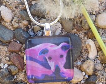 Greyhound Necklace - Watching You