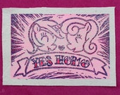 YES HOMO patch featuring Lyra and Bon Bon- My Little Pony