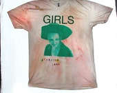 "unisex GIRLS tshirt ""starring lena"" (HBO Hit show / Pitchfork-Approved BAND) Two For One Cross Promotional (Jogging x Tyrone Chang Exclusive"