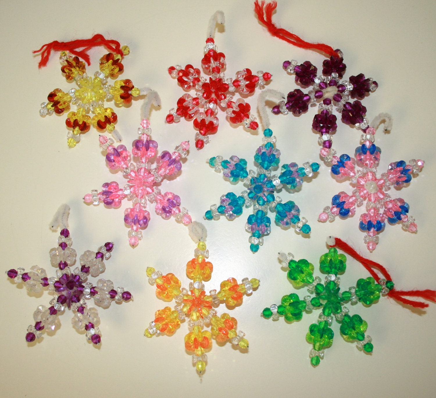 Vintage Handmade Beaded Christmas Ornaments
