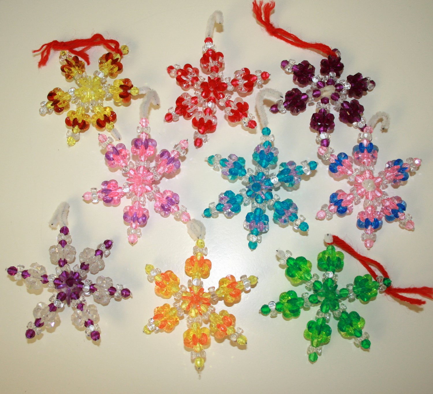 Surprising Christmas Decorations Made Of Beads Crafthubs Easy Diy Christmas Decorations Tissureus