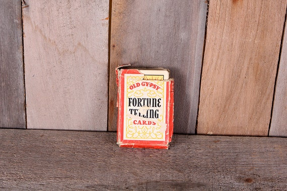 Vintage 1940 Deck Old Gypsy Fortune Telling Cards Complete