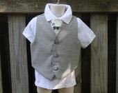 Little Mans Vest and Tie Set 2T