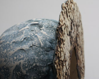Abstract ceramic sculpture - moon