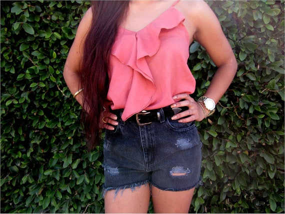 Faded Glory distressed high waisted shorts